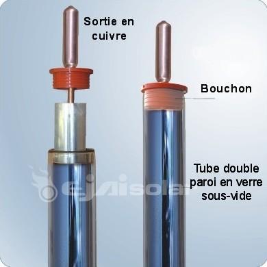 10 PCS PIÈCES DE RECHANGE TUBE SOUS VIDE mm 1800 x 58 SOLAIRE THERMIQUE TUYAUX