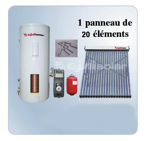 Kit solaire 150 litres 1 panneau 20 tubes sous vide for Panneau solaire sous vide